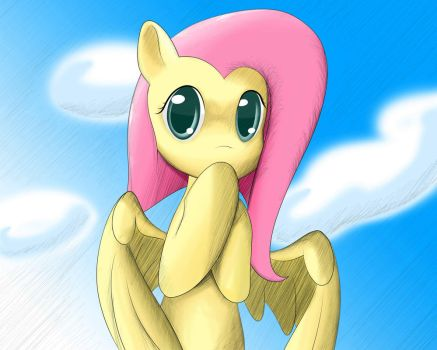 Fluttershy in the sky by Ando-1000