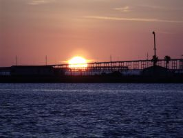 Sunset over the Laguna Madre 1 by polkadotkat