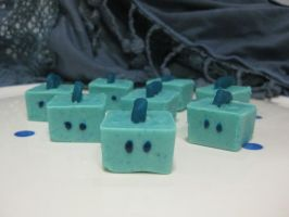 Blurr cube Chocolate candy by ShianMoonites