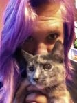 me and kitty by haleyhopscotch