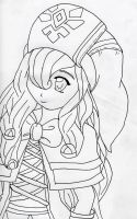Main Character- Lineart by booklover160