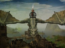 Lineage II - Flying Over Giran by l2zerk