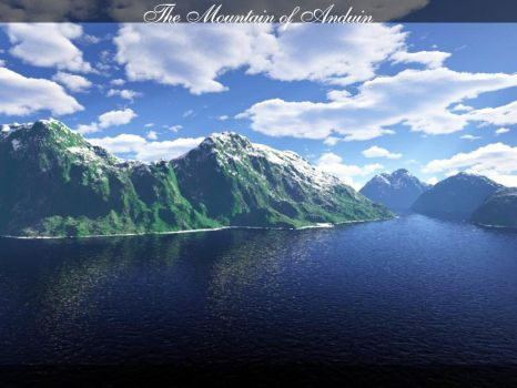The Mountain of Anduin by aechen