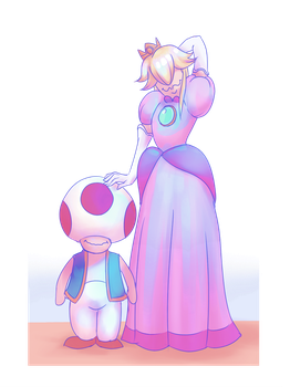 Peach And Toad by Ailwidis