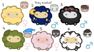 CLOSED-Points Adoptables - Evolvable Sheep Puffs by JellyTheTangrowth