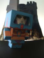 Man-e- Face cube by Allhallowseve31