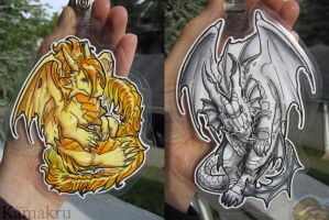 Chibi Badges - Arofexdracona by Kamakru