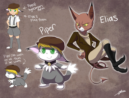 OC batch 7: Cat Characters Continued by DragginCat
