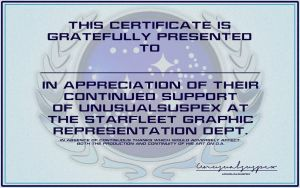 Certificate Of Thanks by unusualsuspex