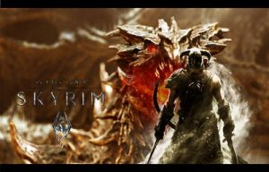 Skyrim Wallpaper with Dovahkiin by Ferdiferrah