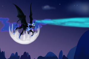 Screenshot Redraw 1 - Nightmare Moon by EmpressOfDestruction
