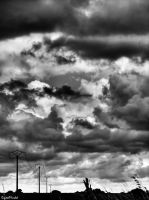Grey cloudy sky by digitalminded