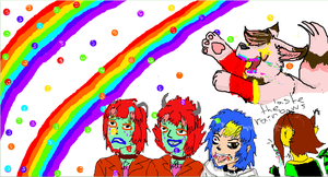 Double rainbowz on iscribble by MoonDust01