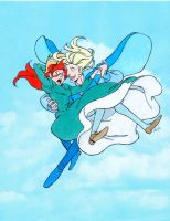 HMC: Howl and Sophie Flying by Saphari