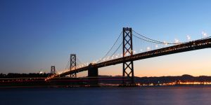 Bay Bridge amongst the Sunrise by thevictor2225