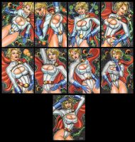 POWER GIRL PERSONAL SKETCH CARDS 2012 by AHochrein2010