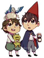 Chibi Beatrice, Greg, and Wirt Fanart by ibahibut