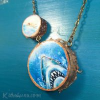 Jaws Wooden Necklace by kahahuna