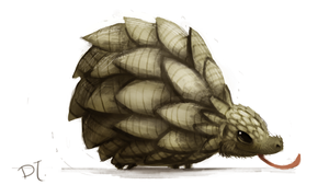 DAY 331. Pangolin by Cryptid-Creations