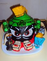 Marvin The Martian Cake by ToughSpirit
