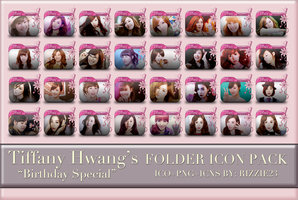 SNSD Tiffany's Birthday Special Folder Icon Pack by Rizzie23