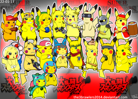 SSBBrawl Pikachu Version by The3Brawlers2014