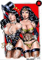 Zatanna and Wonder Woman color by JardelCruz