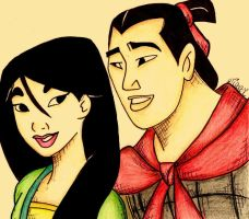 Mulan And Shang. by LilNikiwi