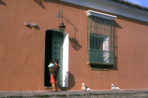 Street Scene in Antigua, Guatemala by vanfoto