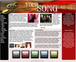 WebSite Layout Your Song by rodrigovp
