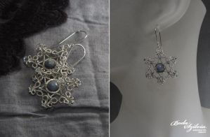 Snowflake earrings by bodaszilvia