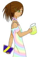 Native Serving Girl in Pastel by Elistanel