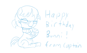 For the Birthday Bunni SKETCH by Captain64