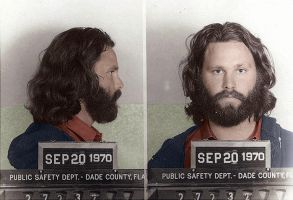 Mug shot of Jim Morrison by KraljAleksandar