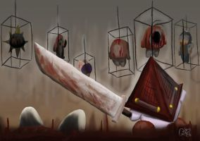 Pyramid Head Kirby by Triple-Q