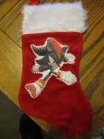 Shadow Christmas Stocking by Anthro7
