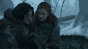 Jon and Ygritte by Silberius