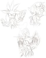 Sonic Sketches by SupaSilver