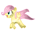 Galaxy Filly Fluttershy Vector by Minkxs