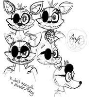 Foxy Face Practice by VixyThePirate