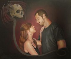 Mandy and Jesse by ChristineMarieArt