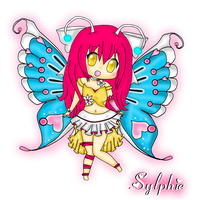 Sylphie, The Butterfly Chibi! by PrincessDevin302