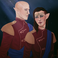 [Request] Rusalka Lavellan and Solas by elyhumanoid