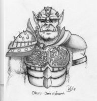 Okuru - Orc cleric of Gruumsh by Gworeth