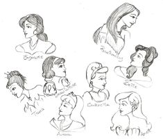 Princess Profile Sketchings by Durnesque