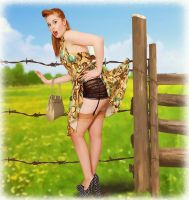 Retro Pinup Girl by Roys-Art