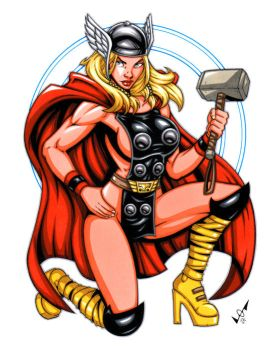 Female Thor commission by gb2k