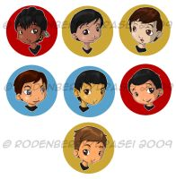 Star Trek Buttons by urasei
