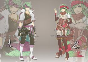 48h Pirate twins adoptable41 [CLOSED] by ilaBarattolo