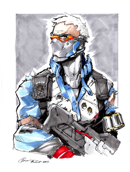 Soldier 76 Copic Marker Sketch by G21MM